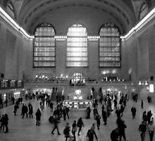 Grand Central - Black & White by Graciela Maria Solano