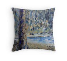Fir Tree Pond  Throw Pillow