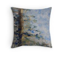 Fir Tree Sky  Throw Pillow