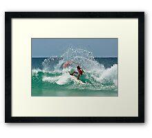 Kelly Slater - Quiksilver Pro 2008 Framed Print