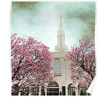 Bountiful LDS Temple - Spring Poster