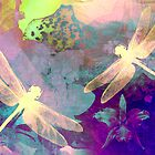 Painting Orchids & Dragonflies. by Vitta
