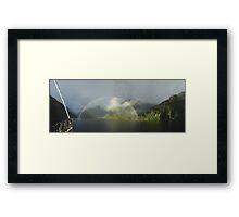 Doutful Rainbow Framed Print