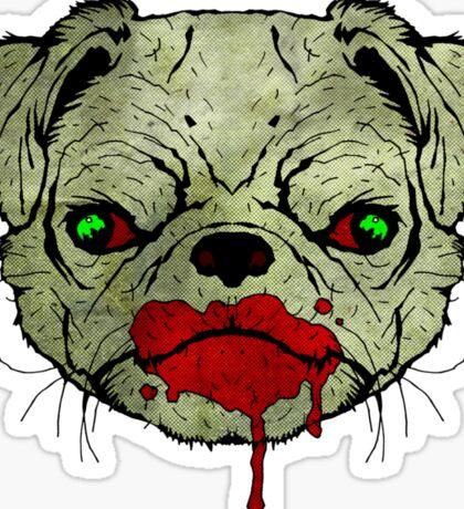 Zombie Pug! Sticker