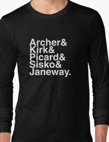 Star trek captains Long Sleeve T-Shirt