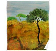 Savannah, watercolor Poster