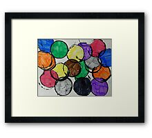 Round and round - Becky B Framed Print