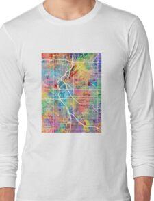 Denver Colorado Street Map Long Sleeve T-Shirt