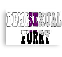 Demisexual Fur Canvas Print