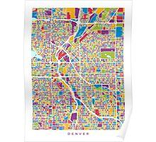 Denver Colorado Street Map Poster