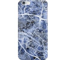 Glasgow Street Map iPhone Case/Skin