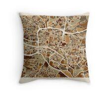 Glasgow Street Map Throw Pillow