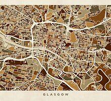 Glasgow Street Map by Michael Tompsett