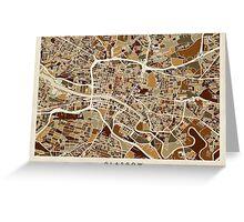 Glasgow Street Map Greeting Card