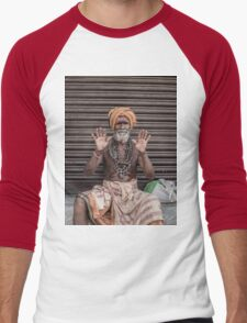 Sadhus of India Men's Baseball ¾ T-Shirt