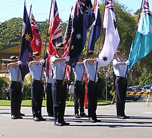 Before the March, Anzac Day 25 April 2009 - Currumbin March by Fiona Allan Photography