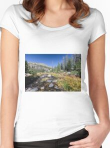Fall river near Naturalist Basin Women's Fitted Scoop T-Shirt