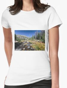 Fall river near Naturalist Basin Womens Fitted T-Shirt
