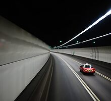 Hong Kong tunnel with taxi by Phoenix55