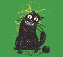 Black Cat Kids Tee