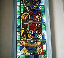 Stained glass window in the Cannongate Kirk, Edinburgh by anaisnais