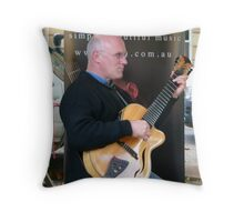 Cary, The Guitar Maestro Throw Pillow