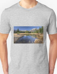 Pond with Mountain reflection Unisex T-Shirt