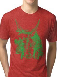 pterodactyl pilot green Tri-blend T-Shirt