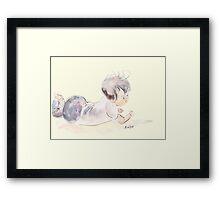 Little Missy Is Ready To Explore! Framed Print