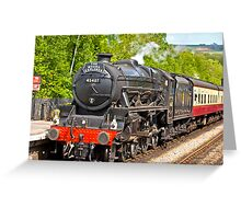 The Moors Explorer at Grosmont Greeting Card