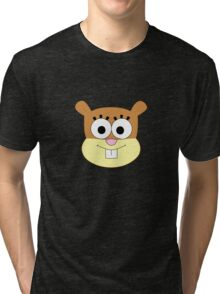 Sandy Cheeks t-shirt without helmet Tri-blend T-Shirt