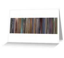 Moviebarcode: A Scanner Darkly (2006) Greeting Card