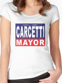 Carcetti for Mayor Women's Fitted Scoop T-Shirt