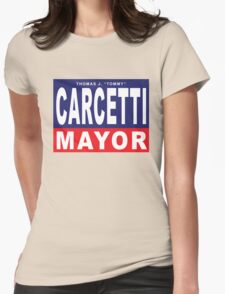 Carcetti for Mayor Womens Fitted T-Shirt