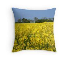 Yellow Rape Field.. Throw Pillow