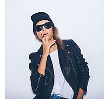 hipster girl swag cool Photographic Print