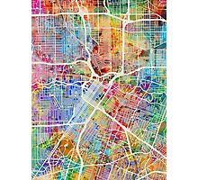 Houston Texas City Street Map Photographic Print