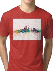 Milwaukee Wisconsin Skyline Tri-blend T-Shirt