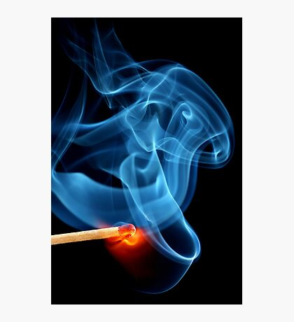 Matchstick bursting to flame Photographic Print