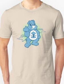 Don't Care Bear (blue) Unisex T-Shirt