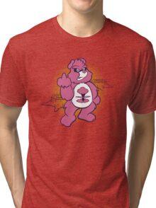 Don't Care Bear (pink) Tri-blend T-Shirt