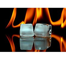 Ice cubes on fire Photographic Print