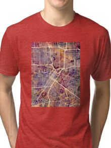 Houston Texas City Street Map Tri-blend T-Shirt