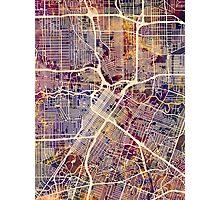 Houston Texas City Street Map Photographic Print