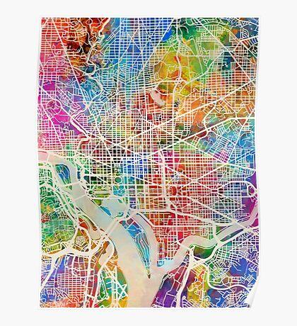 Washington DC Street Map Poster