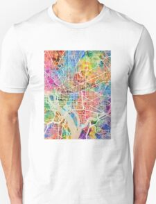 Washington DC Street Map Unisex T-Shirt