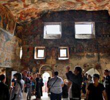 Inside Panagia Sumela monastery Sticker