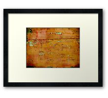 The Old Sign - Collaboration with Shane Jones Framed Print