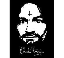 Charles Manson - Signature - Manson Family  Photographic Print