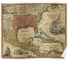 Map of Mexico, New England, Carolina, Virginia, Pennsylvania (1759) Poster